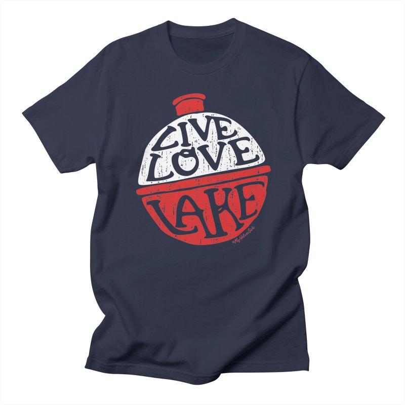 Live Love Lake - Bobber Men's Regular T-Shirt by My Nature Side