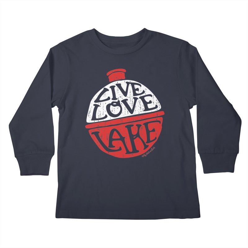 Live Love Lake - Bobber Kids Longsleeve T-Shirt by My Nature Side