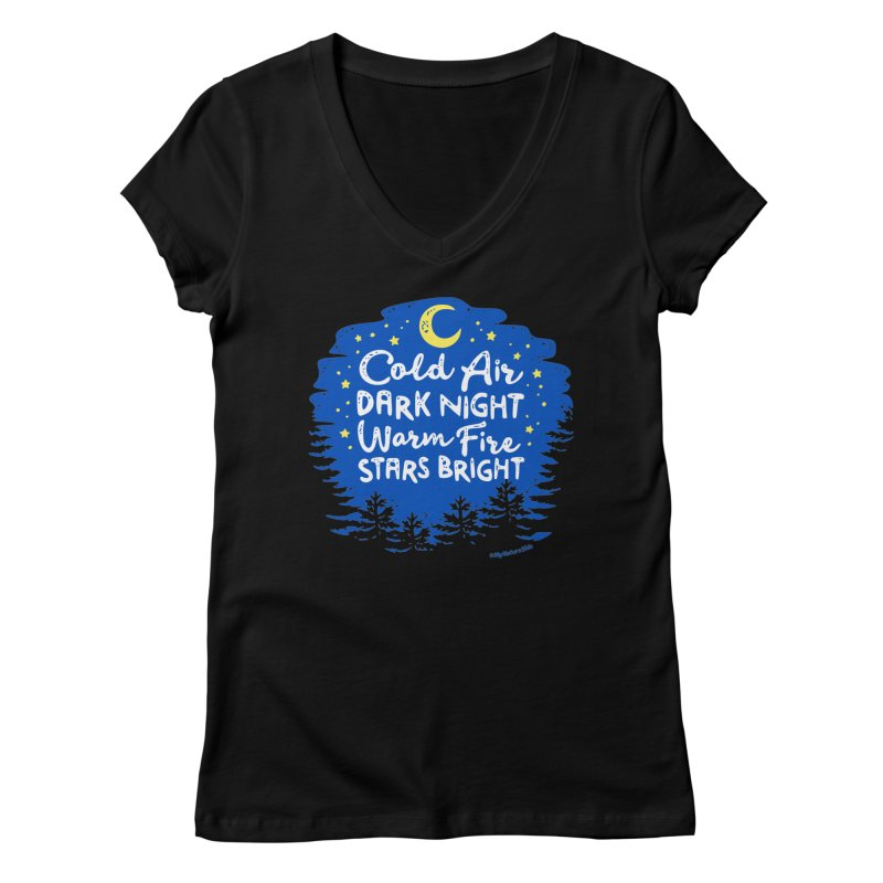 Camping Nights Women's V-Neck by My Nature Side