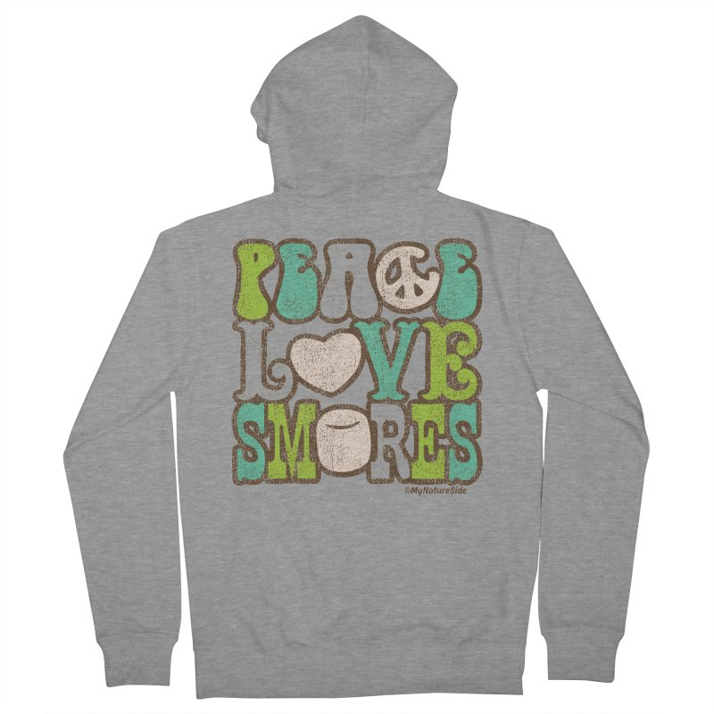 Peace Love Smores Women's French Terry Zip-Up Hoody by My Nature Side