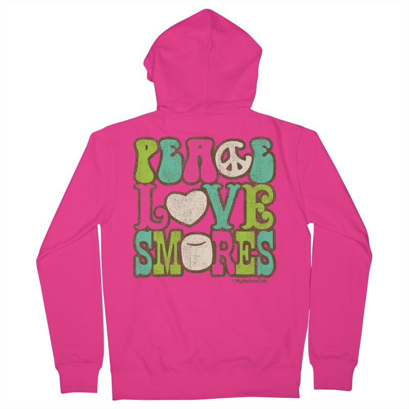 Peace Love Smores Men's French Terry Zip-Up Hoody by My Nature Side