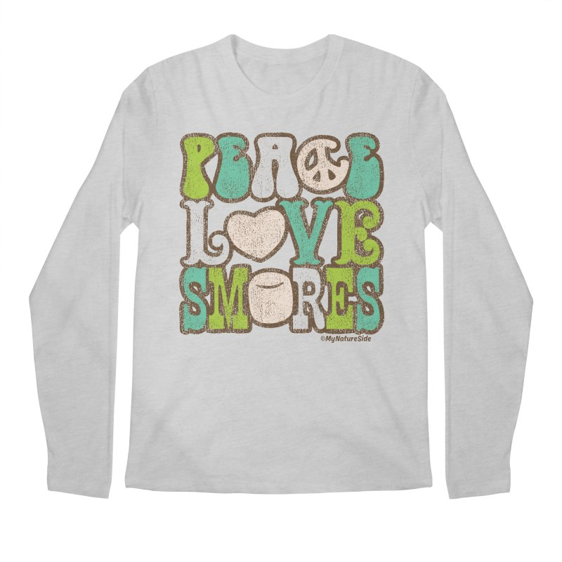 Peace Love Smores Men's Regular Longsleeve T-Shirt by My Nature Side