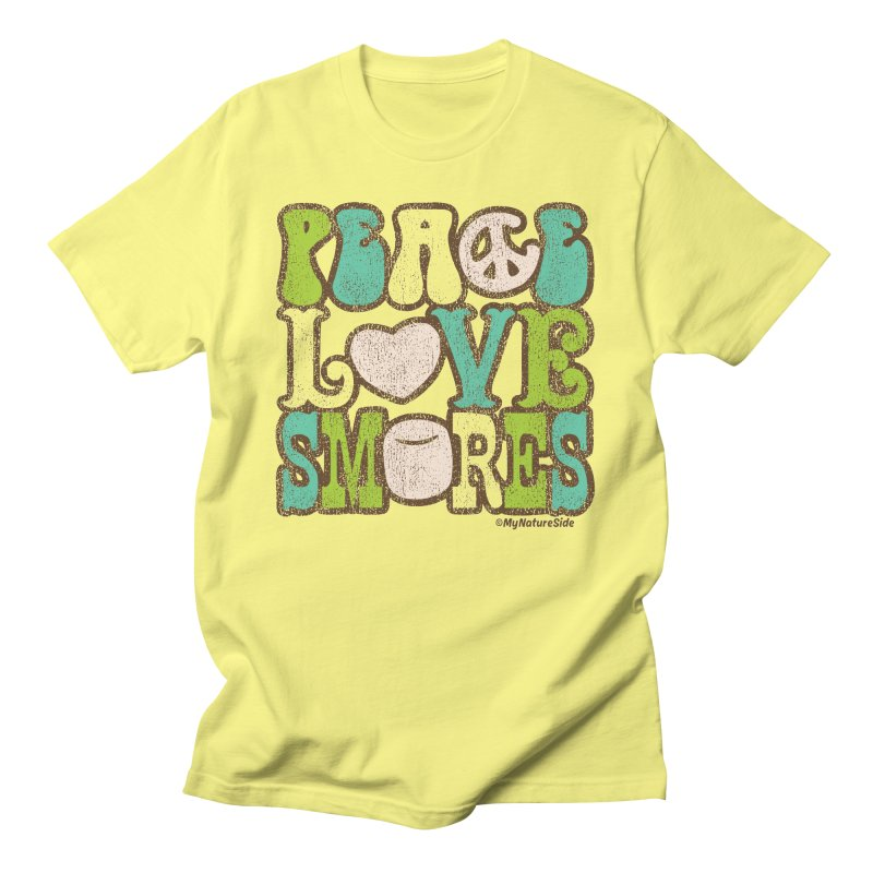 Peace Love Smores Men's T-Shirt by My Nature Side