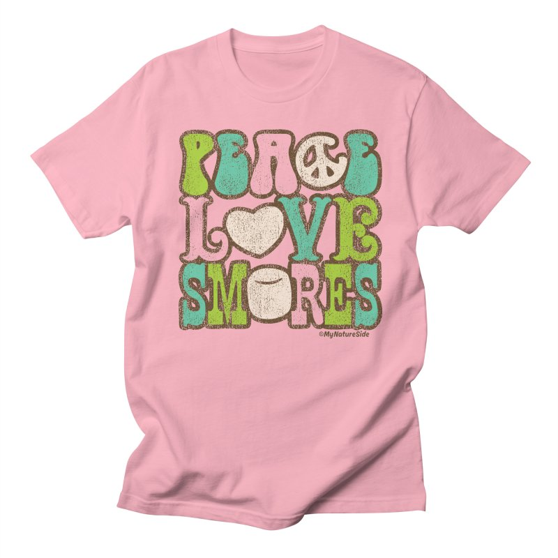 Peace Love Smores Men's Regular T-Shirt by My Nature Side