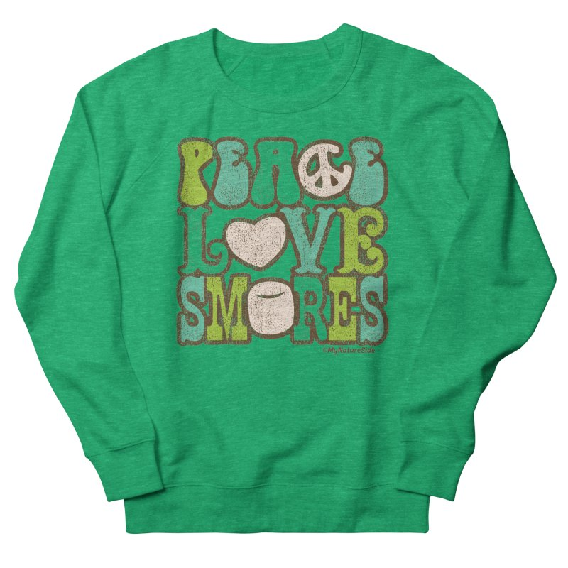 Peace Love Smores Women's French Terry Sweatshirt by My Nature Side