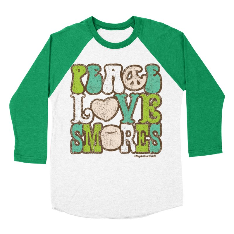 Peace Love Smores Women's Baseball Triblend Longsleeve T-Shirt by My Nature Side