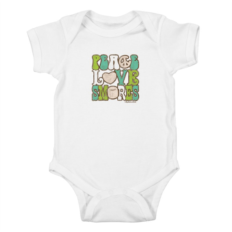 Peace Love Smores Kids Baby Bodysuit by My Nature Side