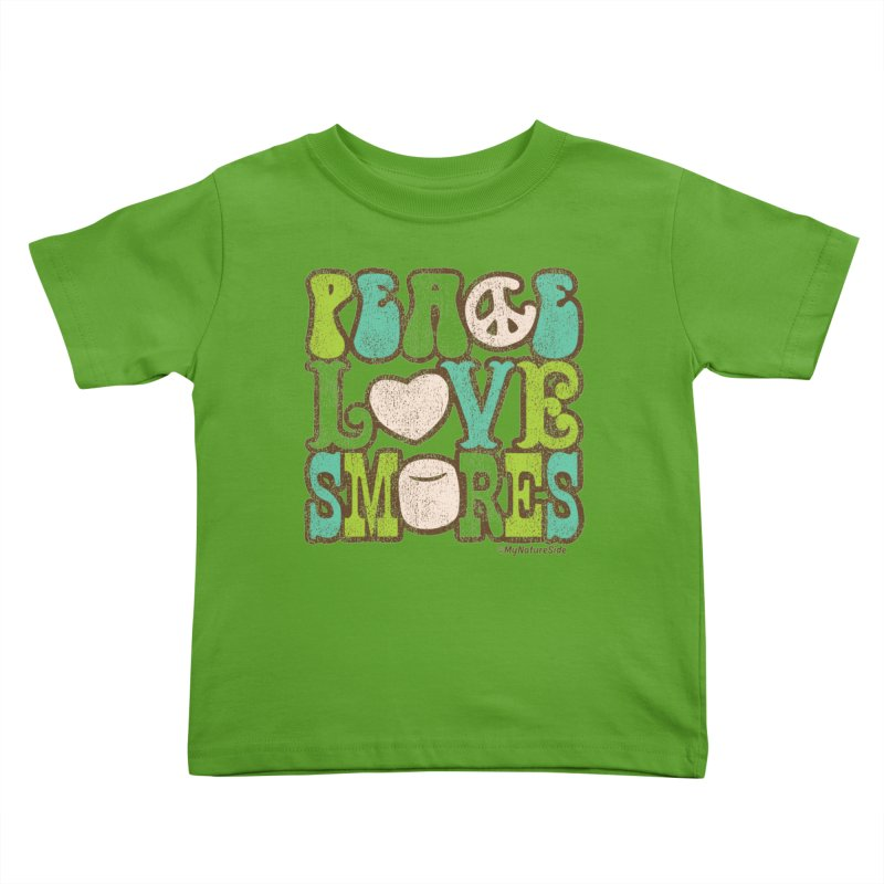 Peace Love Smores Kids Toddler T-Shirt by My Nature Side