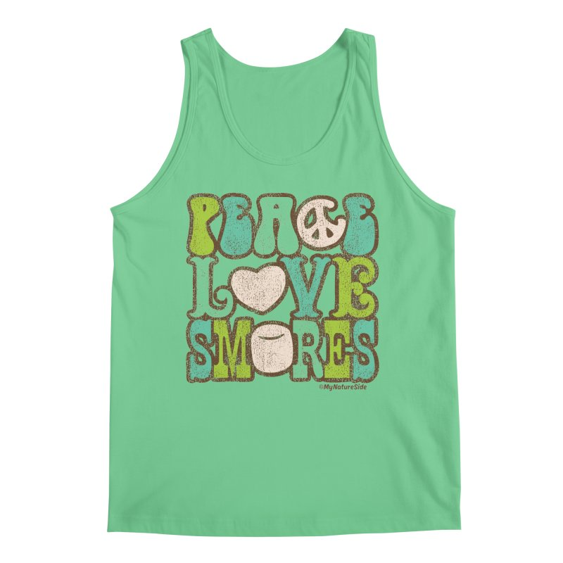 Peace Love Smores Men's Regular Tank by My Nature Side