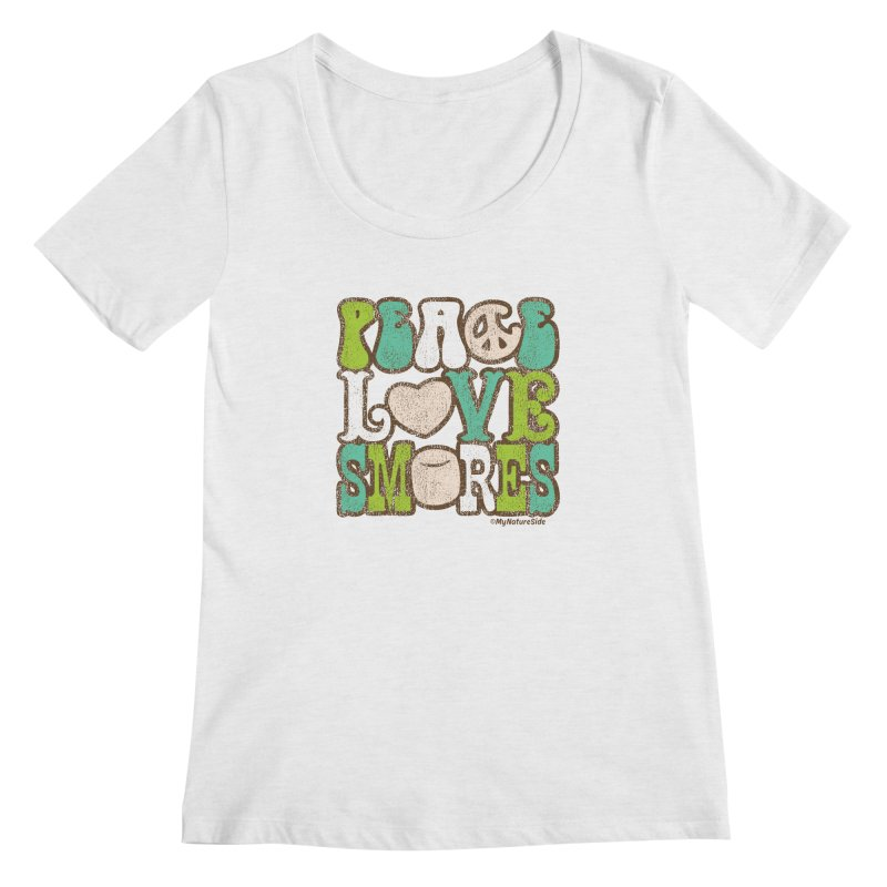 Peace Love Smores Women's Scoop Neck by My Nature Side