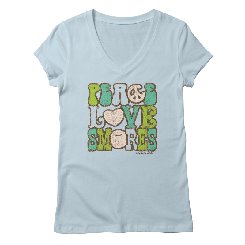 Peace Love Smores Women's V-Neck by My Nature Side