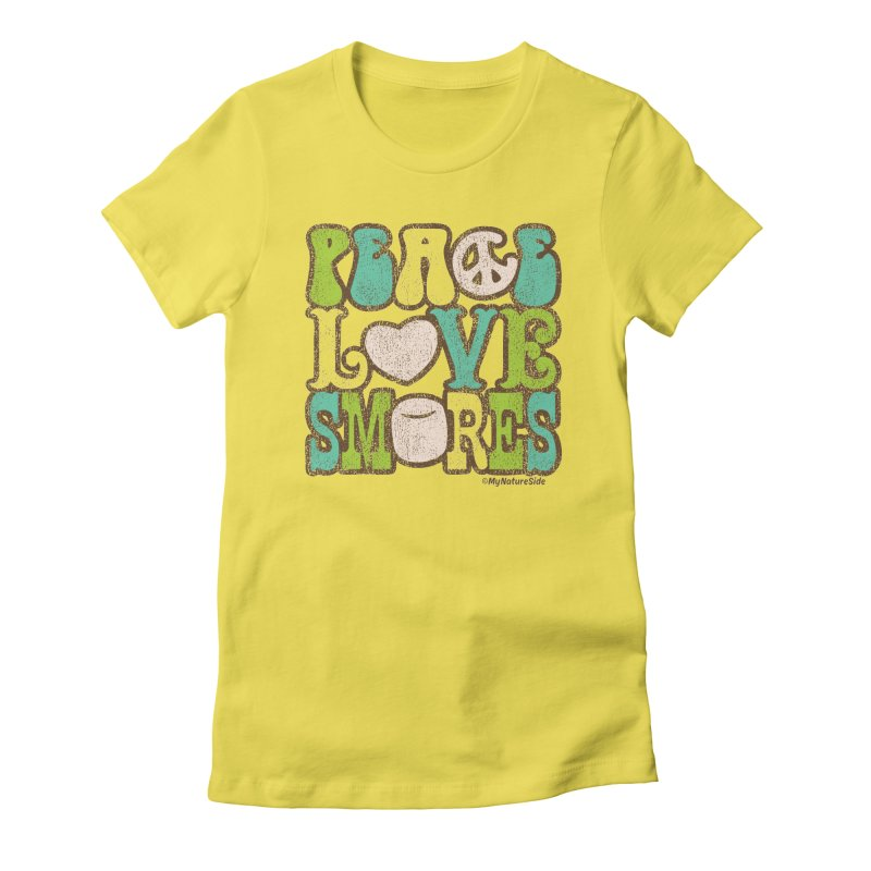 Peace Love Smores Women's T-Shirt by My Nature Side