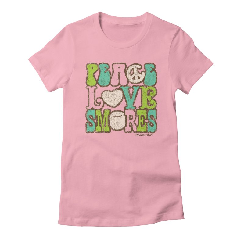 Peace Love Smores Women's Fitted T-Shirt by My Nature Side