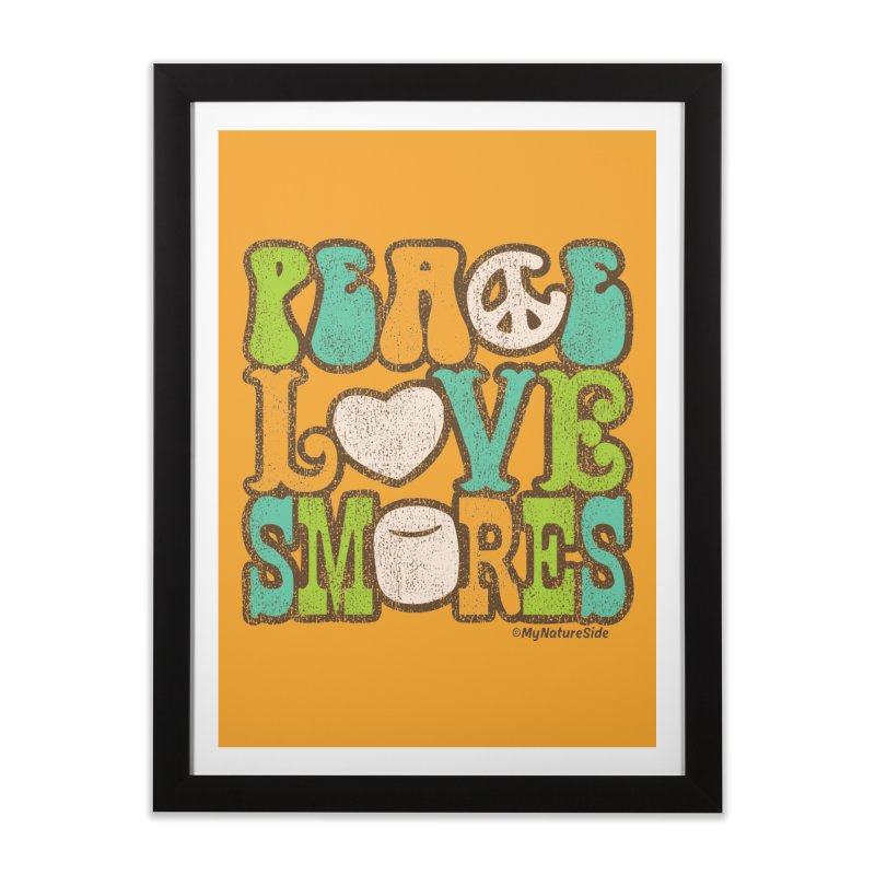 Peace Love Smores Home Framed Fine Art Print by My Nature Side