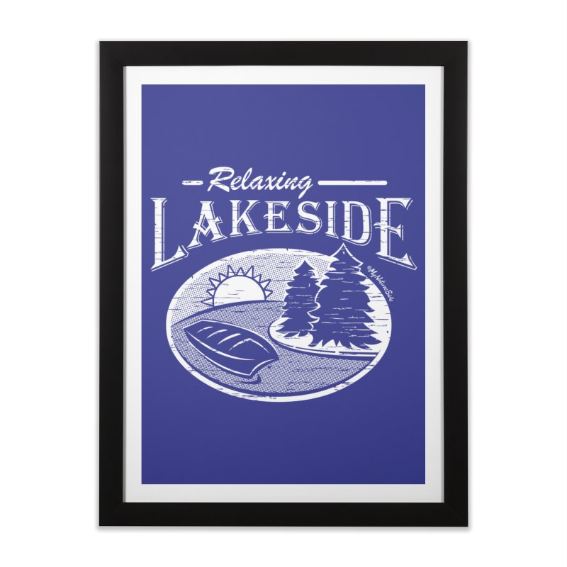 Relaxing Lakeside Home Framed Fine Art Print by My Nature Side