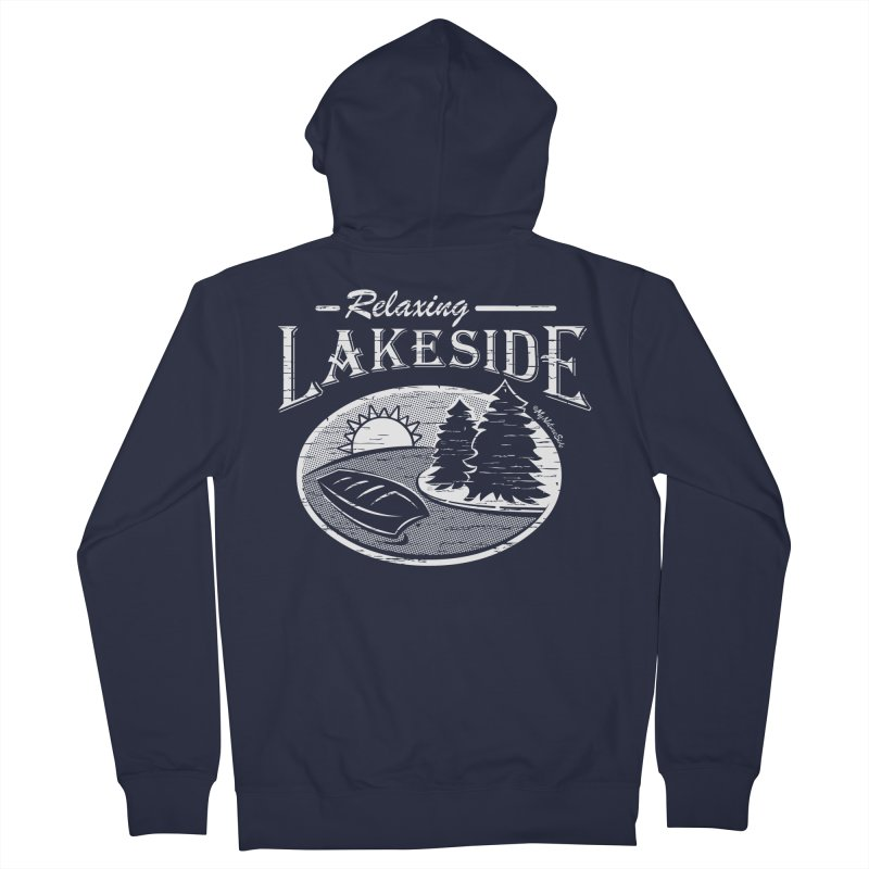 Relaxing Lakeside Women's French Terry Zip-Up Hoody by My Nature Side