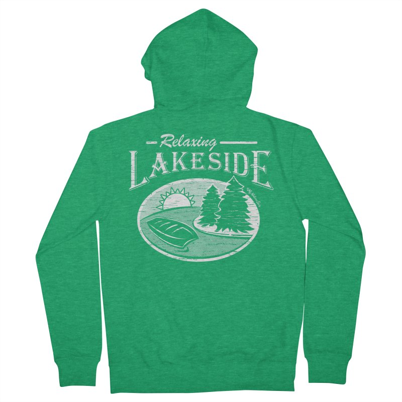 Relaxing Lakeside Men's Zip-Up Hoody by My Nature Side