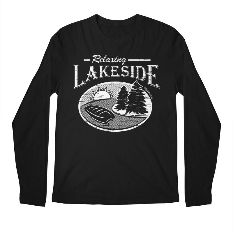 Relaxing Lakeside Men's Regular Longsleeve T-Shirt by My Nature Side