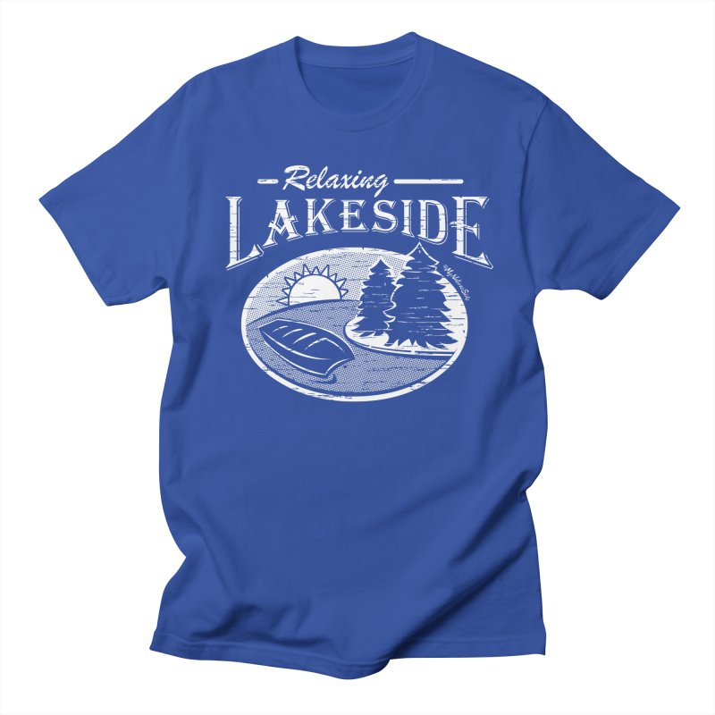 Relaxing Lakeside Men's Regular T-Shirt by My Nature Side