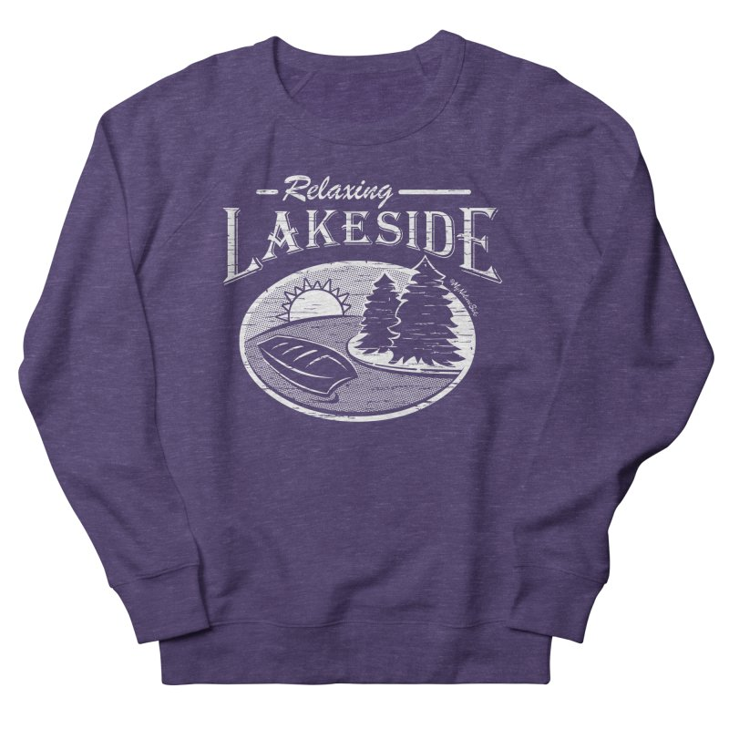 Relaxing Lakeside Women's French Terry Sweatshirt by My Nature Side