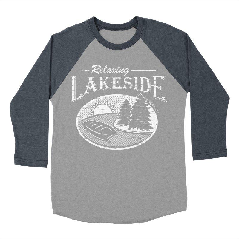 Relaxing Lakeside Women's Baseball Triblend Longsleeve T-Shirt by My Nature Side