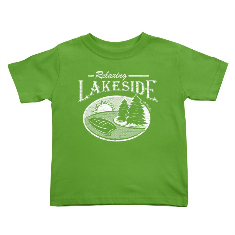 Relaxing Lakeside Kids Toddler T-Shirt by My Nature Side