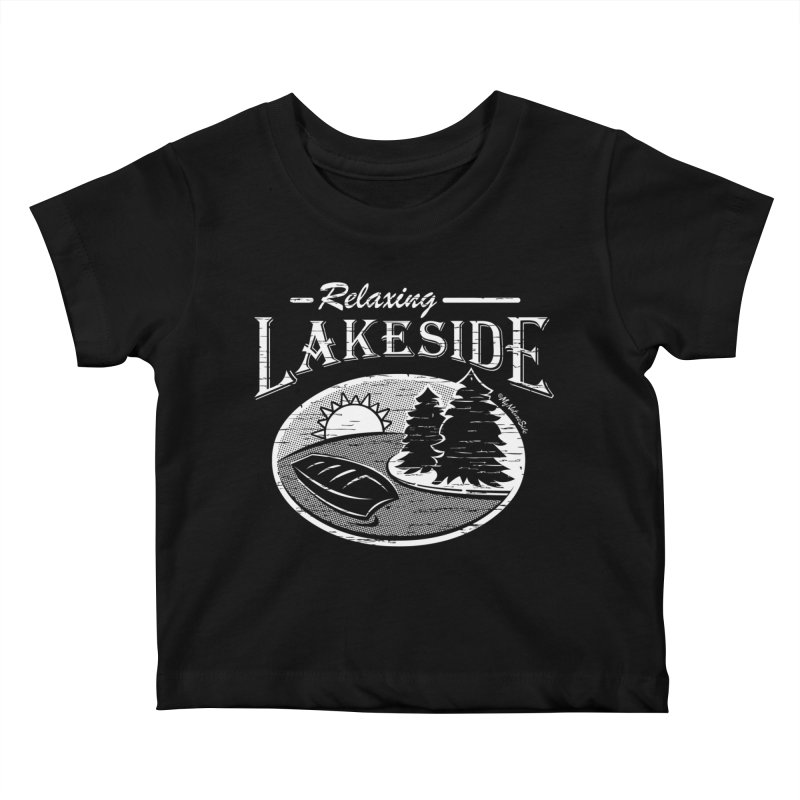 Relaxing Lakeside Kids Baby T-Shirt by My Nature Side