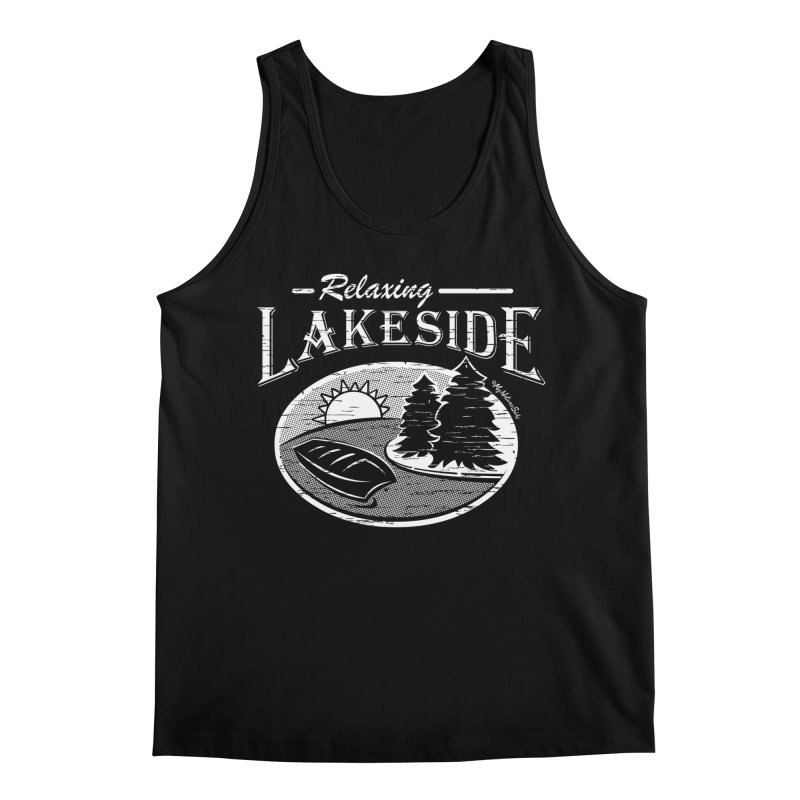 Relaxing Lakeside Men's Tank by My Nature Side