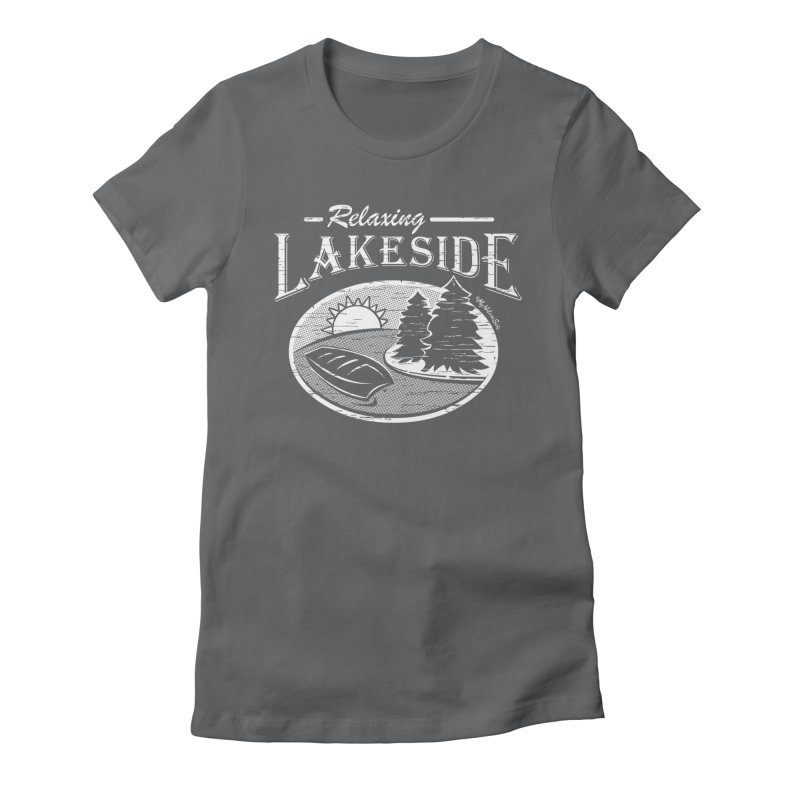Relaxing Lakeside Women's Fitted T-Shirt by My Nature Side