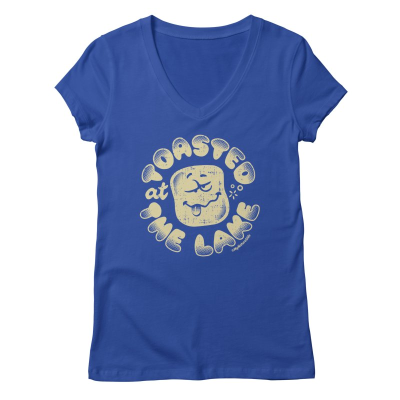 Toasted at the Lake Women's V-Neck by My Nature Side