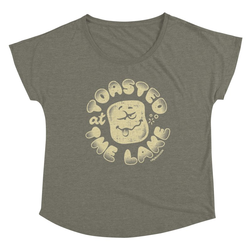 Toasted at the Lake Women's Scoop Neck by My Nature Side