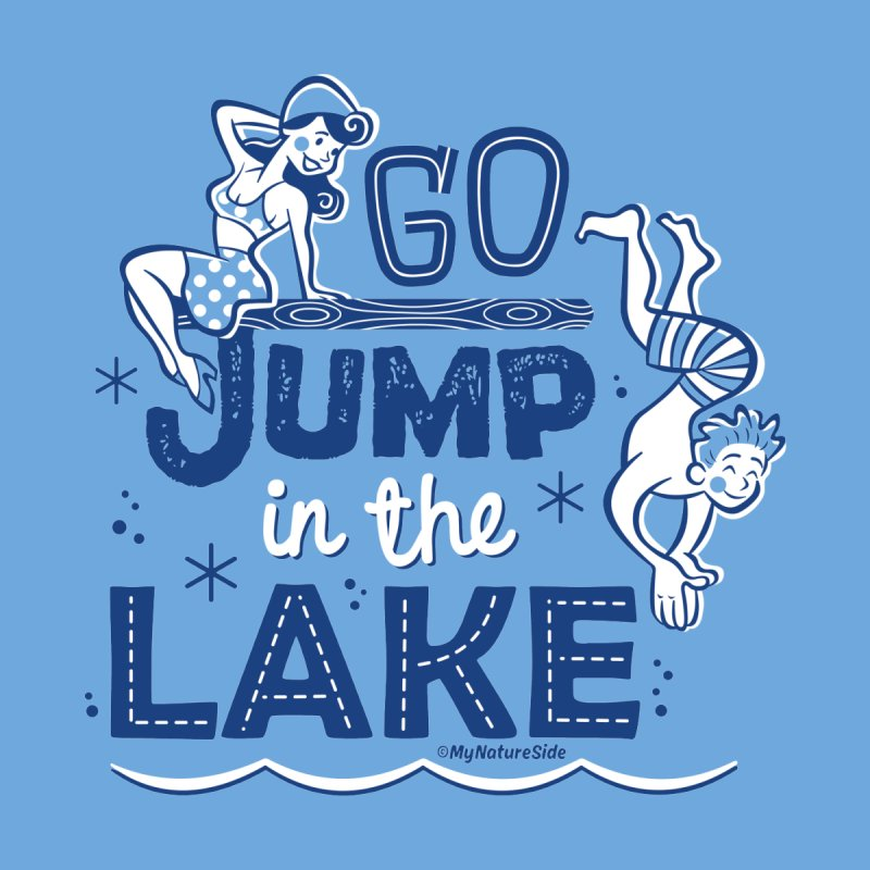 Go Jump In The Lake - Retro Home Stretched Canvas by My Nature Side