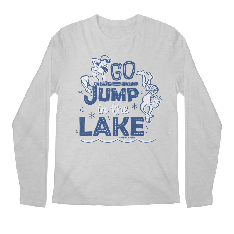Go Jump In The Lake - Retro Men's Regular Longsleeve T-Shirt by My Nature Side