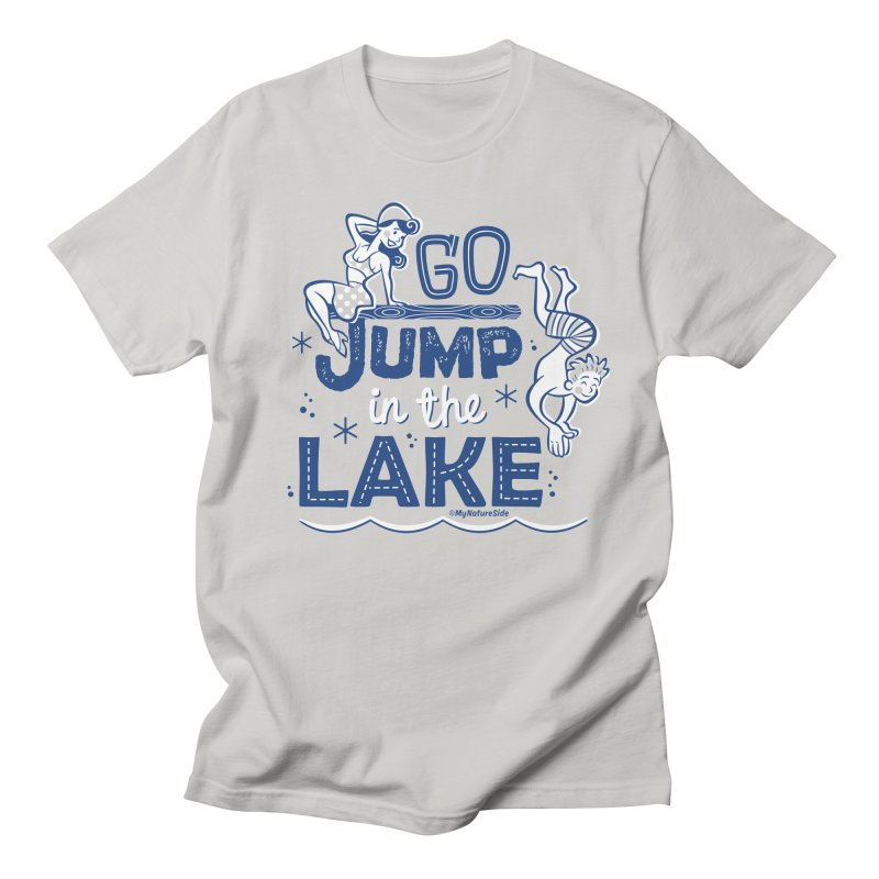 Go Jump In The Lake - Retro Men's Regular T-Shirt by My Nature Side