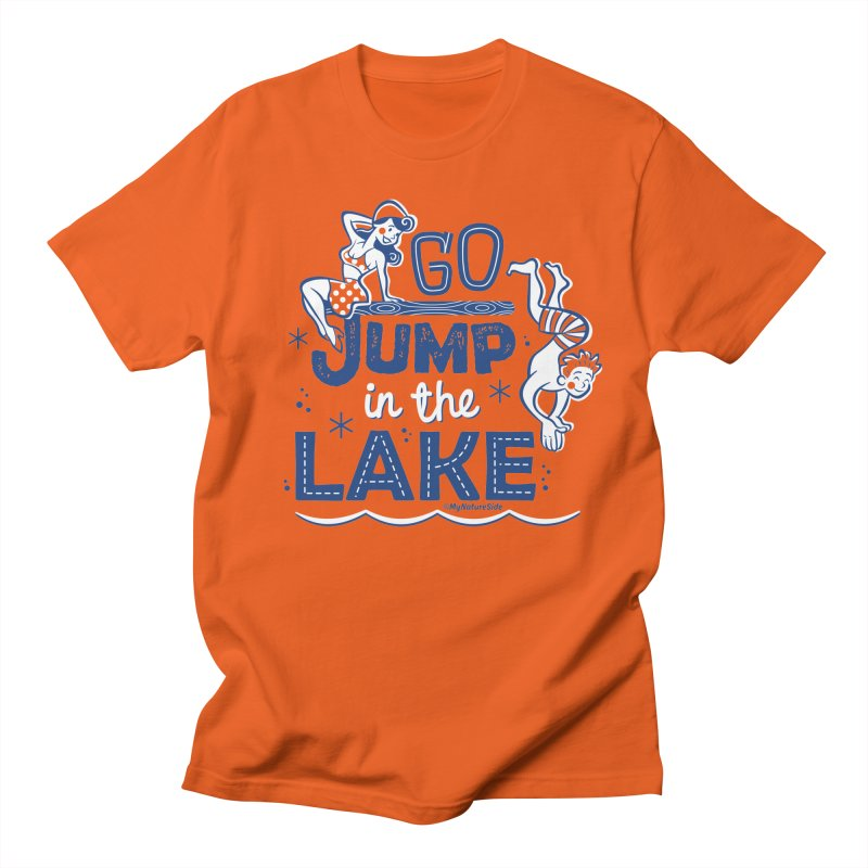 Go Jump In The Lake - Retro Men's T-Shirt by My Nature Side