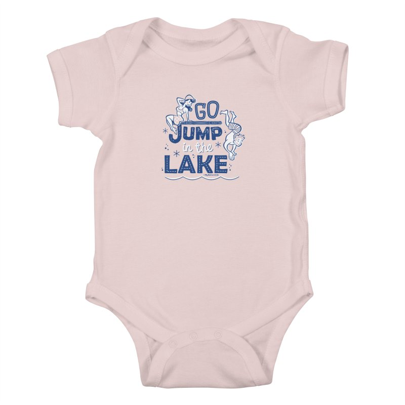 Go Jump In The Lake - Retro Kids Baby Bodysuit by My Nature Side