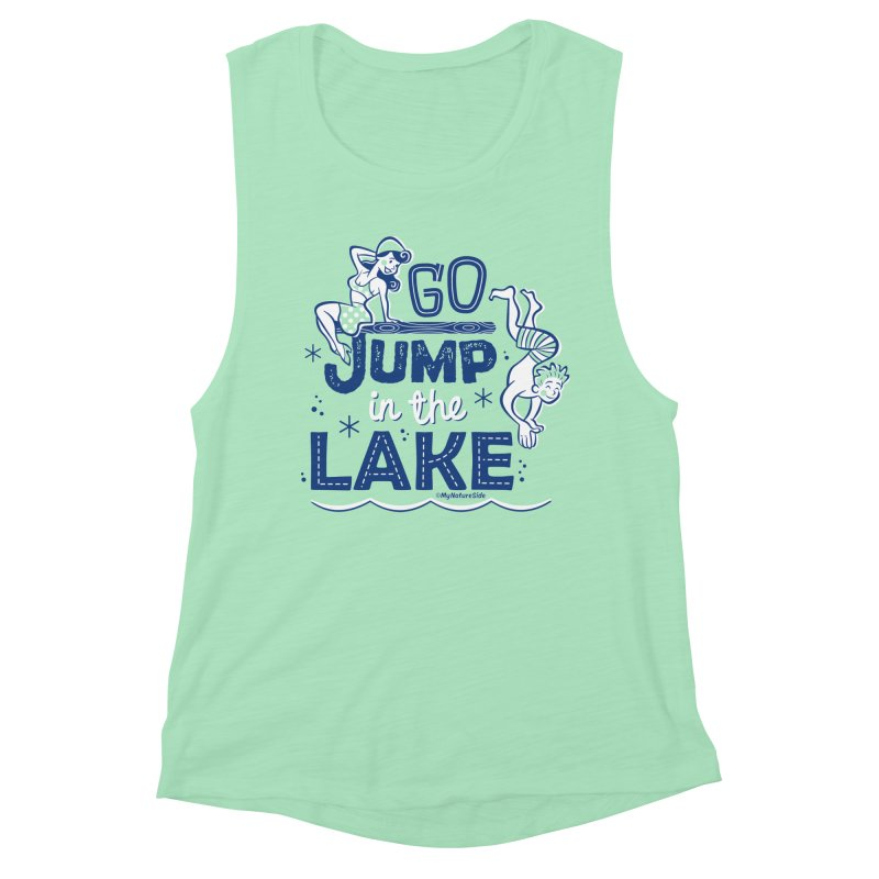 Go Jump In The Lake - Retro Women's Muscle Tank by My Nature Side