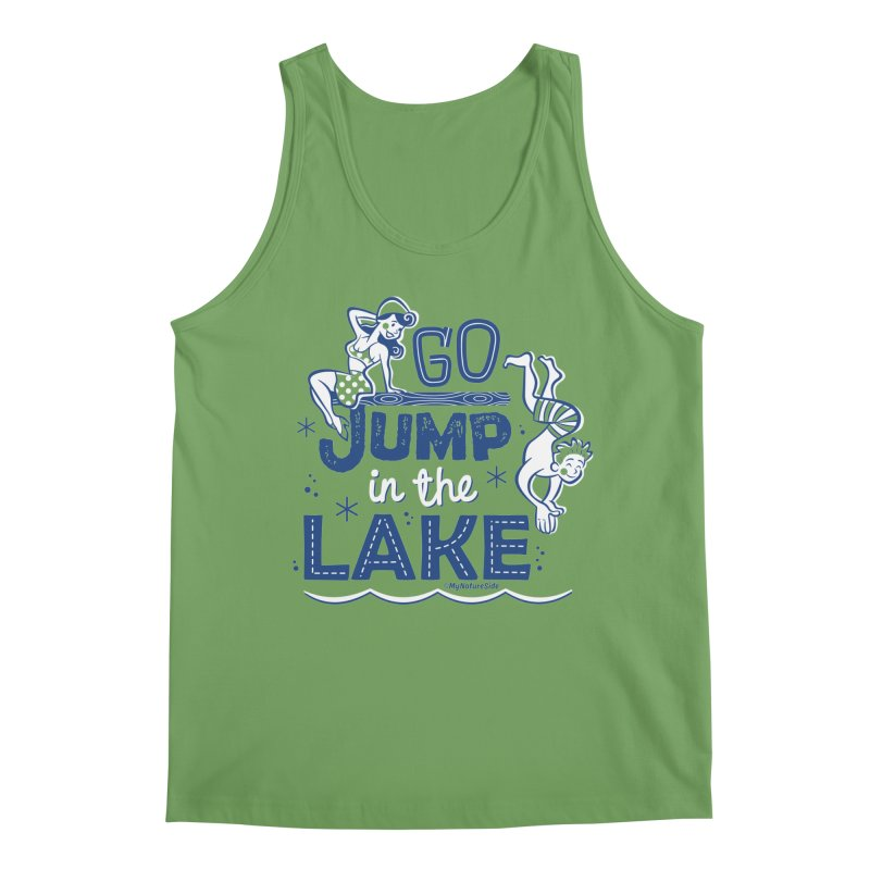Go Jump In The Lake - Retro Men's Tank by My Nature Side