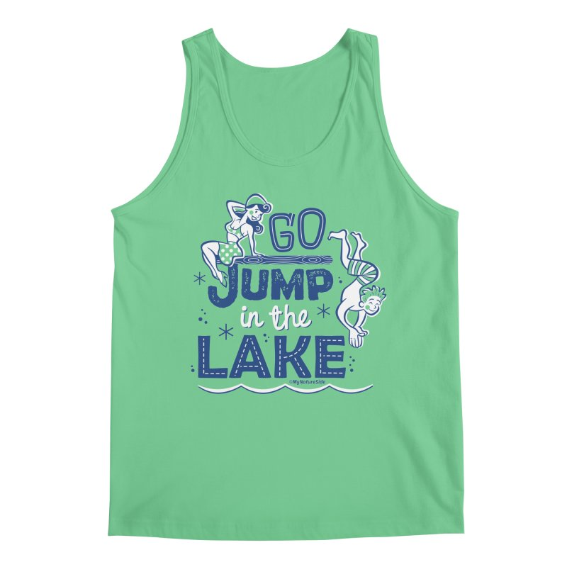 Go Jump In The Lake - Retro Men's Regular Tank by My Nature Side