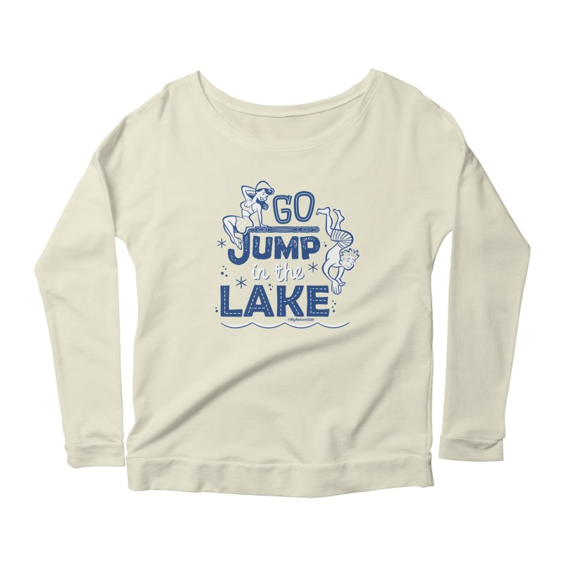 Go Jump In The Lake - Retro Women's Scoop Neck Longsleeve T-Shirt by My Nature Side