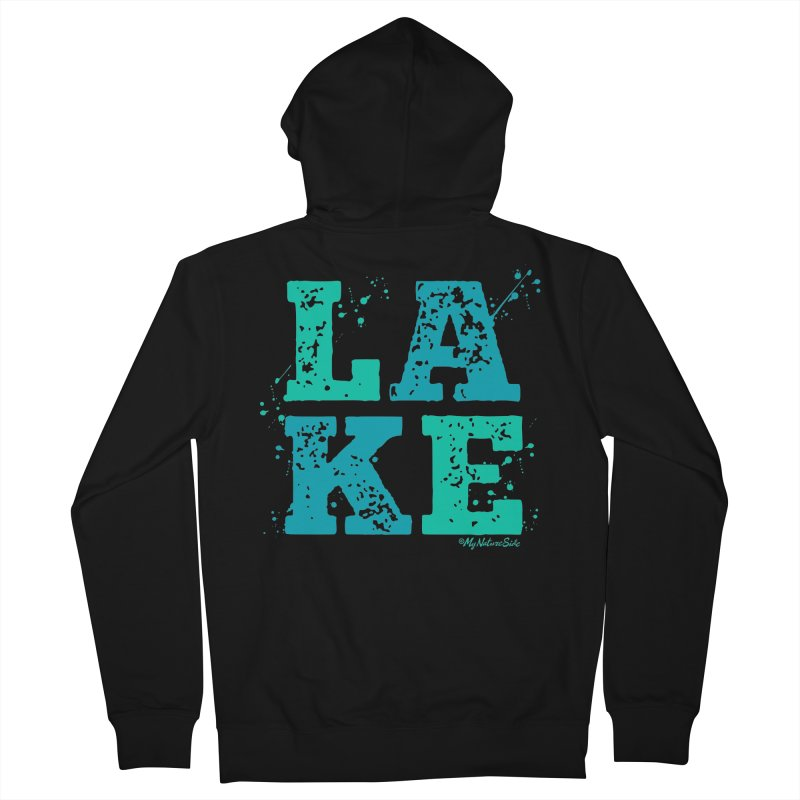 Lake Splatter Women's French Terry Zip-Up Hoody by My Nature Side