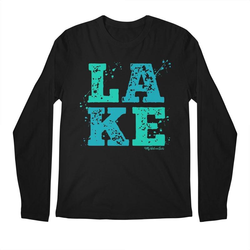 Lake Splatter Men's Regular Longsleeve T-Shirt by My Nature Side