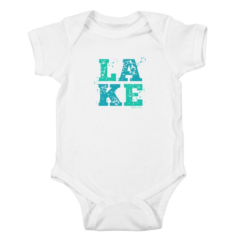 Lake Splatter Kids Baby Bodysuit by My Nature Side