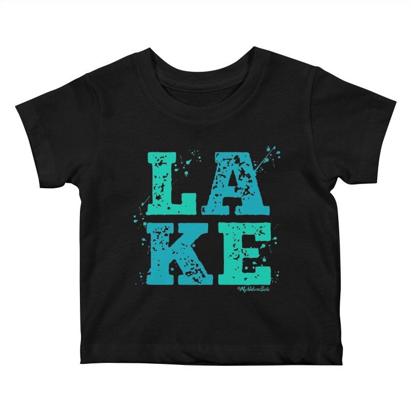 Lake Splatter Kids Baby T-Shirt by My Nature Side