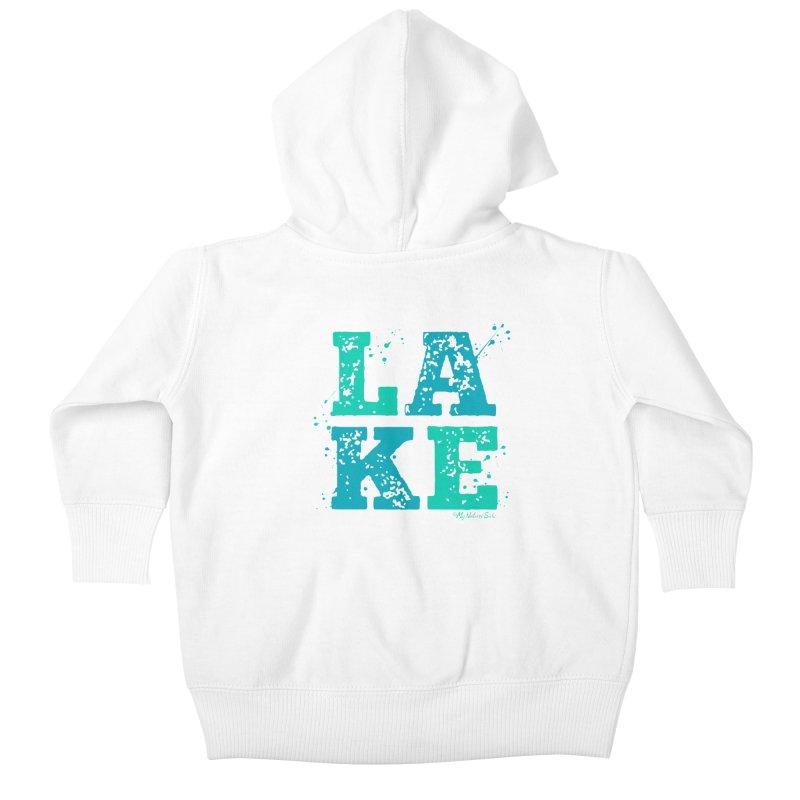 Lake Splatter Kids Baby Zip-Up Hoody by My Nature Side