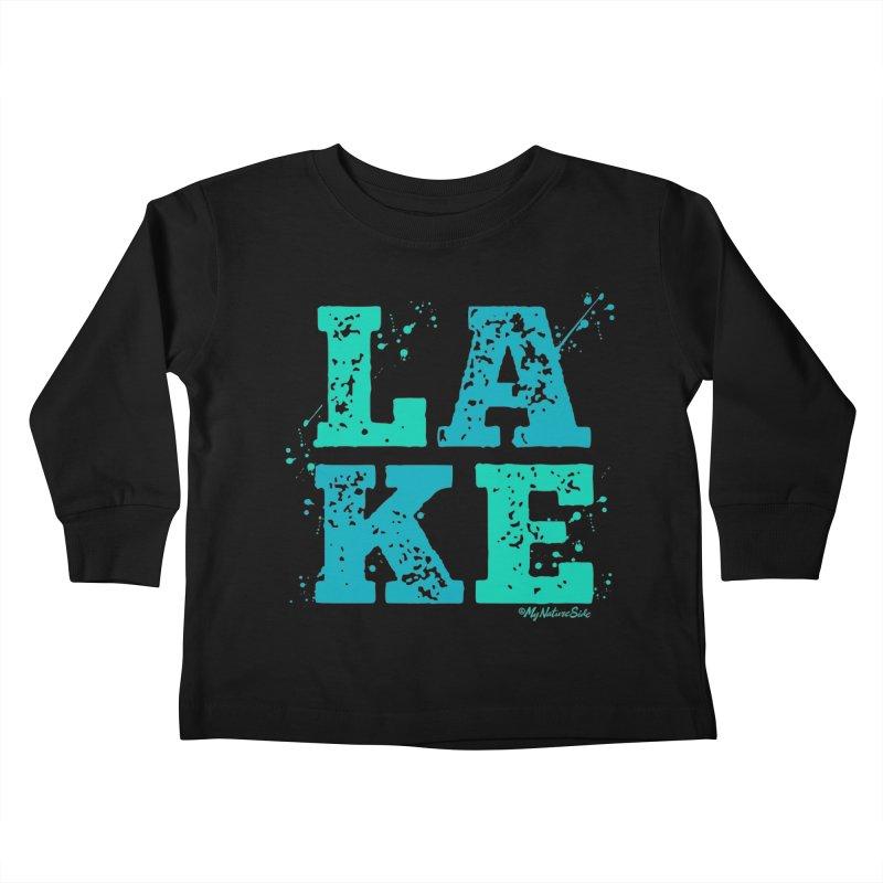 Lake Splatter Kids Toddler Longsleeve T-Shirt by My Nature Side