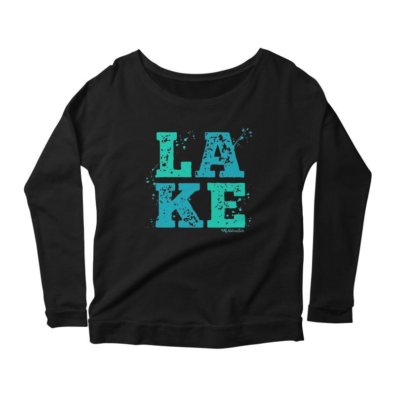 Lake Splatter Women's Scoop Neck Longsleeve T-Shirt by My Nature Side