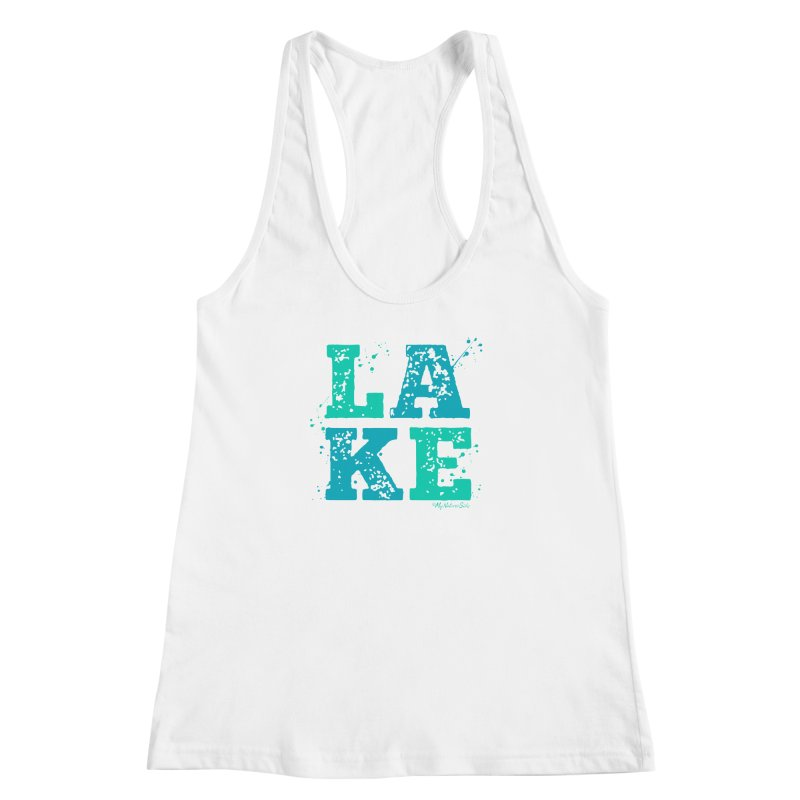 Lake Splatter Women's Racerback Tank by My Nature Side