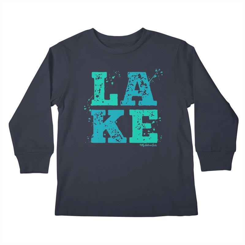 Lake Splatter Kids Longsleeve T-Shirt by My Nature Side