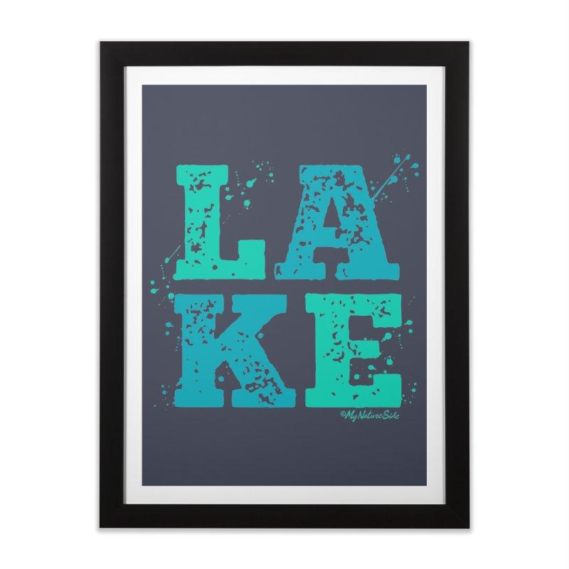 Lake Splatter Home Framed Fine Art Print by My Nature Side